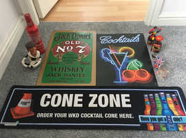 MAN CAVE BAR ACCESSORIES JOB LOT COLLECT FROM BURY ST EDS SUFFOLK