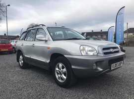 Hyundai Santa Fe, 2005 (05) Silver Estate, Manual Diesel, 101,000 miles