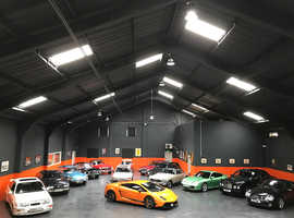 INDOOR CAR STORAGE FACILITY TWO MINUTES FROM GLASGOW CITY CENTRE MODERN CLASSIC PRESTIGE MOTORHOMES BIKES BOATS ALL FULLY CATERED FOR