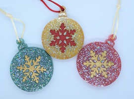 Christmas Baubles 3 pack.