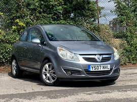 Vauxhall Corsa 1.2 DESIGN, 2007 (07) Silver Hatchback, Manual Petrol, LONG MOT JUNE 2021