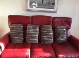 4 Brown Suede cushions
