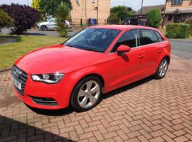 Audi A3, 2016 (16) Red Hatchback, Semi auto Petrol, 34,000 miles