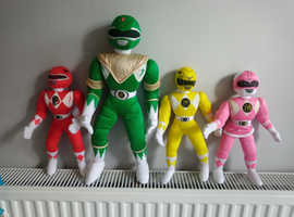 Retro soft bodied power rangers