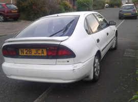 Toyota Corolla, 1997 (P) White Saloon, Manual Petrol, 125,000 miles