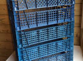 Stackable Plastic Crates X 5