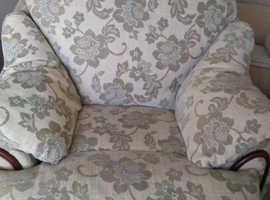 Duck egg colour armchair