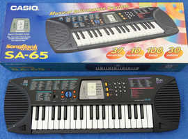Casio SA-65 SongBank Keyboard, boxed, unmarked, full manuals FREE p/p!