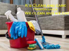 Domestic cleaner in and around Preston.  Let me clean your home so that you can free up the extra time