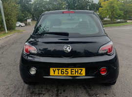 Vauxhall Adam, 2015 (65) black hatchback, Manual Petrol, 60,000 miles