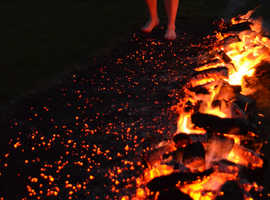 Hot foot it to charity firewalk