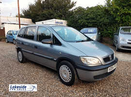 Vauxhall Zafira 1.6 Litre 7 Seater MPV, Lovely Condition, New MOT, Just Serviced, Tow Bar, 95,000 Miles.