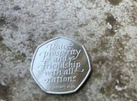 Brexit 50p Piece Prosperity And Friendship With All Nations 2020