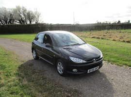 Peugeot 206, 2006 (06) Black Hatchback, Manual Petrol, 100,980 miles