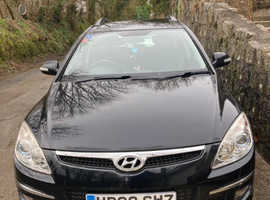 Hyundai i30, 2008 (08) Black Estate, Manual Petrol, 133,000 miles