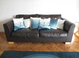 Leather sofa - seats 2 people