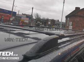 VW Transporter T5 T5.1 T6 T6 Aluminium Black Roof Rails and Cross Rails SWB LWB