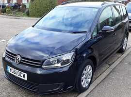 Volkswagen Touran, 2011 (61) Black MPV, FSH, Manual Diesel, 81,798 miles