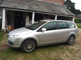 Ford Focus, 2005 (05) Silver Estate, Manual Petrol, 77,608 miles