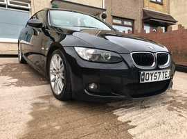 BMW 3 Series, 2007 (57) Black Coupe, Manual Diesel, 111,000 miles