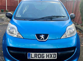 Peugeot 107, Low Mileage, 2006 Metallic Blue 43,054 Miles, Service History Documented