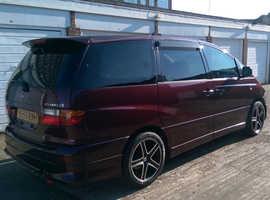 Toyota Estima, 2001 (Y) red mpv, Automatic Petrol, 130100 miles