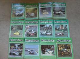 1981 MOTORSPORT MAGAZINES COMPLETE SET JAN - DEC