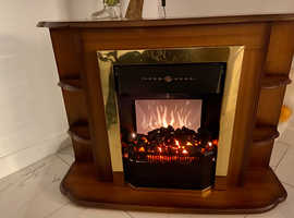 Electric feature fireplace suite - ideal if space is limited