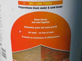 Driveway Sealant : Cementone Resin for Blocks Wet Look Finish