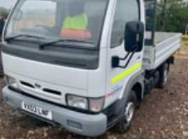 Nissan cabstar 2003 nice clean truck ready for work tested until end of dec