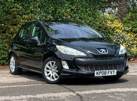 Peugeot 308 1.6 120 SE, 2008 (08) Black 5 Door Hatchback, Manual Petrol, 88,902 miles