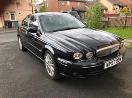 Jaguar X-TYPE, 2008 (57) Black Saloon, Manual Diesel, 64,925 miles