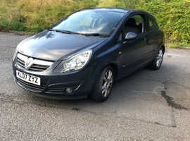 Vauxhall Corsa, 2007 (07) Blue Hatchback, Manual Petrol, 72,475 miles