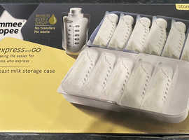 Tommee Tippee express & go breast milk storage box