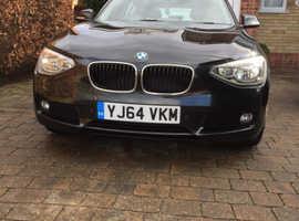BMW 1 series 120D, 2014 (64) Black Hatchback, Manual Diesel, 74,000 miles REDUCED PRICE!!