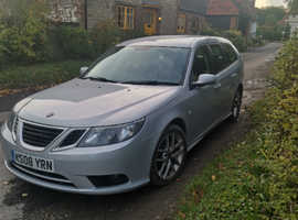 Saab 9-3, 2008 (08) Silver Estate, Manual Diesel, 181,520 miles