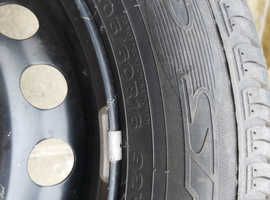 Steel wheel and brand new tyre