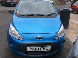 Ford Ka, 2010 (10) Blue Hatchback, Manual Petrol, 63,000 miles