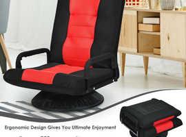 COSTWAY 360 Degree Swivel Folding Lazy Sofa Chair (HW64139RE)