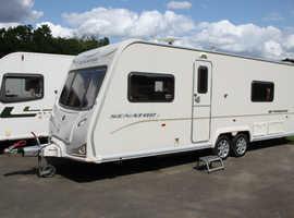 Bailey Senator Wyoming Series 6 2010 4 Berth Fixed Bed Twin Axle Caravan + Awning