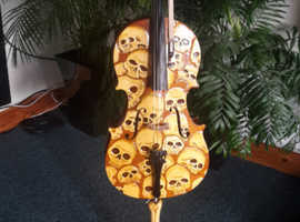 Vintage cello 1/8 hand carved & stand
