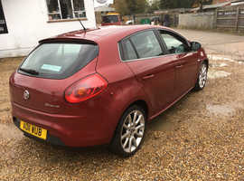 Fiat Bravo, 2011 (11) Red Hatchback, Manual Petrol, 120,000 miles