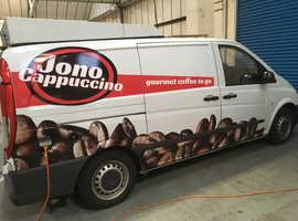 Professionally converted coffee van