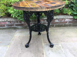 Rustic garden table .