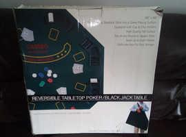 "Reversible tabletop poker / blackjack table 48"" x 48 """