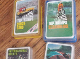 Set of 5 Top Trumps Cards 1970s