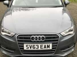 Audi A3, 2013 (63) grey hatchback, Manual Petrol, 58,500 miles