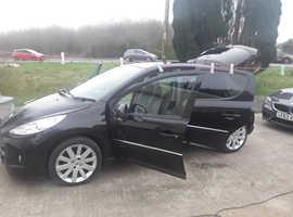 Peugeot 207, 2012 (12) Black Hatchback, Automatic Petrol, 80,154 miles