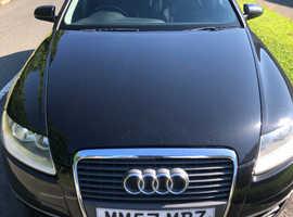 Audi A6, 2008 (57) Black Estate, Manual Diesel, 182,863 miles