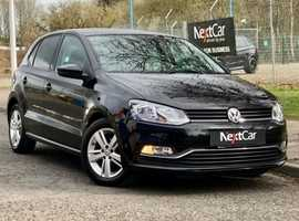 Volkswagen Polo 1.2 TSI Match Edition Lovely 1 Owner, 5 Door Polo with Very Low Miles. Gorgeous in Black